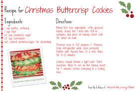 christmas buttercrisp cookies recipe card cq christmas sweets