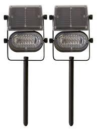 Bright Solar Spot Lights - tricod st238 ultra bright solar spot light 6 led metal body 2