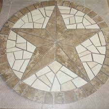 36 ceramic mosaic floor medallion artisan