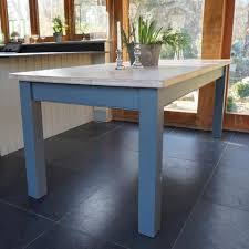 blue painted dining table rectory blue hand painted furniture