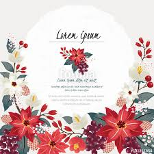 vector illustration of a beautiful floral border in winter for