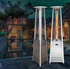 patio heater propane patio comfort pc02ss portable propane patio heater stainless