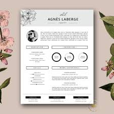fashion resume format resume template feminine resume and free cover letter zoom