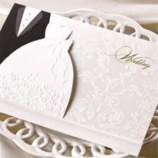 Personal Wedding Invitation Cards 100 Bride And Groom Wedding Invitation With Envelope Diy