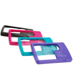 pocket magnifier with light set of 4 pocket 2 1x 6x magnifiers with light cases page 1 qvc com