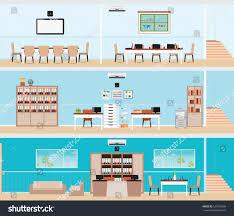 Doctor Office Floor Plan by Interior Building Interior Office Building Room Stock Vector