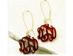 monogrammed earrings acrylic monogrammed earrings walker pharmacy boutique