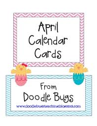 april easter calendar cards free by doodle bugs teaching tpt