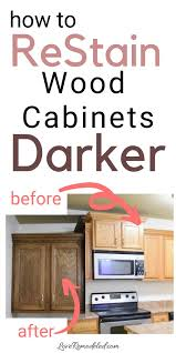 how to stain your cabinets darker re stain your oak cabinets darker stained kitchen cabinets
