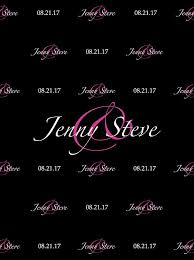 wedding backdrop font custom wedding step and repeat backdrop color font options