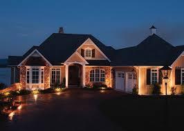 outdoor lighting has exterior uplighting on with hd resolution