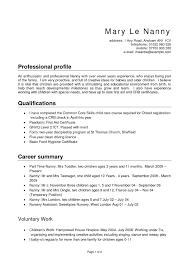 cover page on resume nanny title on resume free resume example and writing download nanny profile examples