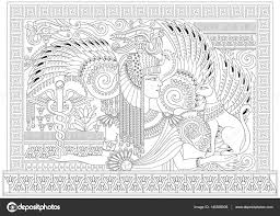 black and white page for coloring drawing of beautiful