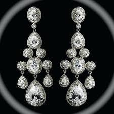 Vintage Pearl Chandelier Earrings Pearl Chandelier Bridal Earrings U2013 Eimat Co