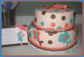 coral baby shower coral turquoise and brown baby shower cakecentral
