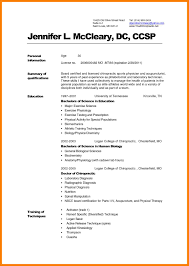 Chiropractic Resume Doctor Resume Template Free Medical Medical Doctor Resume Example