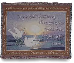 50th anniversary gift 50th anniversary wedding gift throw blanket personalized