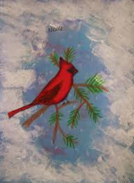 dream draw create cardinals on a snowy day grade 6