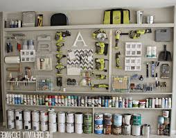 organizing the garage with diy pegboard storage wallthe creativity