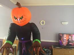 giant inflatable halloween pumpkin man in chingford london