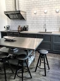 kitchen style stainless steel appliances countertops wooden wall