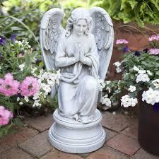 kneeling praying guardian outdoor statue guardian