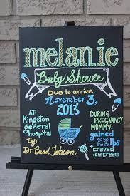 baby shower poster baby shower poster painted chalkboard by theartsyassemblage