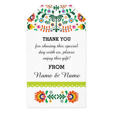 thank you tags thank you tags mexican print lime wedding zazzle