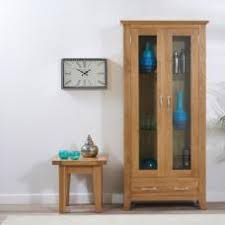 Display Cabinet Canberra Libya Large Glass Display Cabinet In White Gloss And Led
