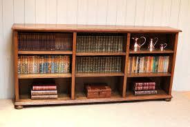 Wooden Bookshelf Bookcase Low Wood Bookshelf Saltire Low Wooden Bookcase Small