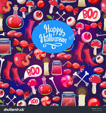 free repeatable halloween background seamless halloween pattern funny background scary stock vector