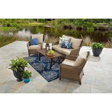 Walmart Patio Conversation Sets Better Homes And Gardens Camrose Farmhouse 4 Piece Conversation