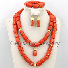 indian bead jewelry necklace images Buy latest wedding nigerian african coral beads jpg