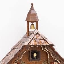 chalet style quartz cuckoo clock with lumberjack u0026 bell tower 28cm