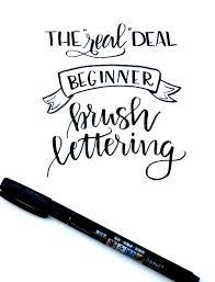 beginner brush lettering basic brushstrokes one artsy mama