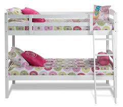 Charlie Twin Bunk Bed White Leons - Leons bunk beds