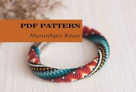 crochet bracelet with beads images Pdf pattern for bead crochet bracelet seed beads crochet etsy jpg