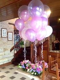 inflated balloon delivery customised arrangements with balloon inside a balloon in lavendar