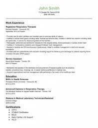 respiratory therapist resume exles respiratory therapy resume exle a respiratory therapist resume