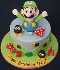 blissfully sweet luigi birthday cake for a