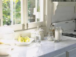 kitchen style spice jars white frame window white kitchen tile spice jars white frame window white kitchen tile countertop