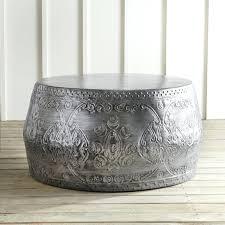 silver barrel side table side table ceramic barrel side table round silver coffee tables