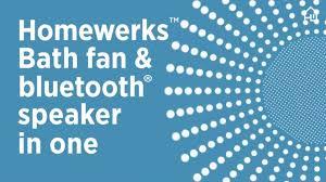 bath fan and speaker in one homewerks bath fan bluetooth speaker in one youtube