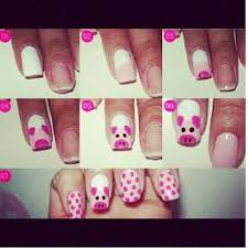 54 best piggy nail art images on pinterest pigs nail art and