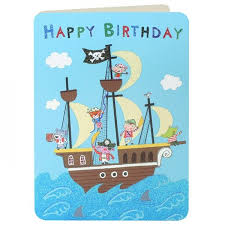pirate ship boys birthday card karenza paperie