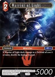 Warrior Of Light Warrior Of Light Fire Opus I Final Fantasy Tcg Online