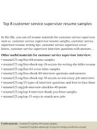 cover letter customer service supervisor customer service supervisor resume resume for your job application