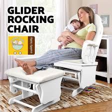 Rocking Chair For Breastfeeding Glider Baby Breast Feeding Nursery Sliding Rocking Chair With