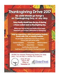thanksgiving dinner drive 2017 uucwc
