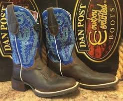 womens size 11 square toe cowboy boots s dan post certified 11 square toe blue boots